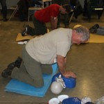 Padding makes for an easier CPR knee work