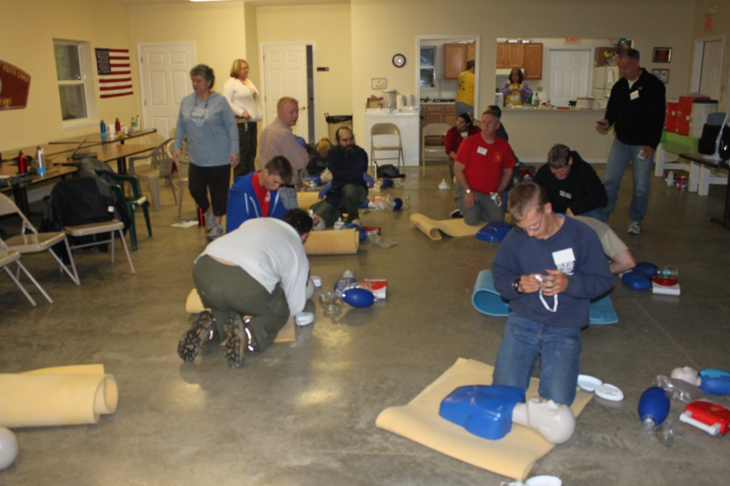CRP AED and O2 training Friday Night