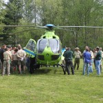 Stat Flight MedEvac helicopter front