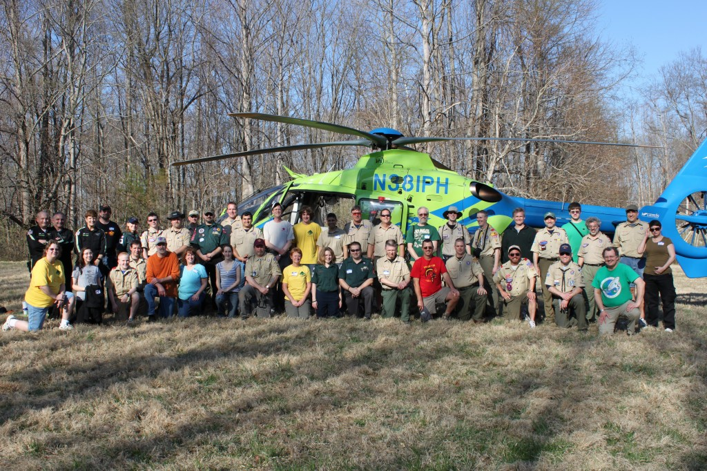 WFA Class of 2011 April 8-10 Group Photo with Medevac Helicopter