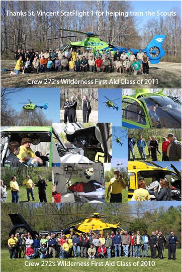 Wilderness First Aid Helicopter visit