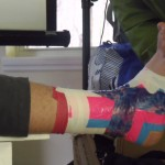 Pete demonstrates ankle taping