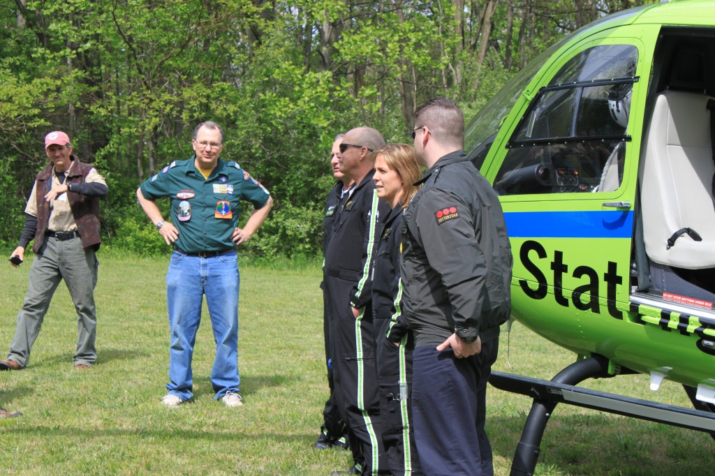 Crew 272 Advisor Brian Walker is pleased with the Helicopter Crew