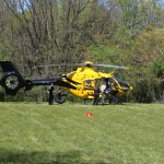PHI helicopter prepares to leave